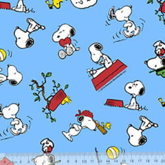 Tricoline Personagens - Snoopy Blue