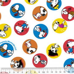 Tecido Tricoline Personagens F. Maluhy - Snoopy Colors