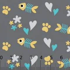Tricoline Pet Cat - Composê Cinza (Largura: 1,50 m)