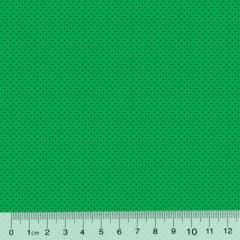 Tecido Tricoline Poá P - Fundo Verde Tons