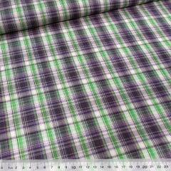 Tecido Tricoline Light - Xadrez Madras (REF 011) - 100% Algodão - Largura 1,50m