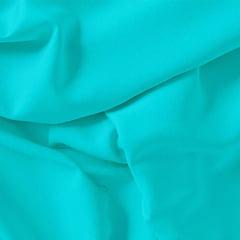 Tecido Viscose Lisa Sarjada Premium - Ciano - 100% Viscose - Largura 1,45m