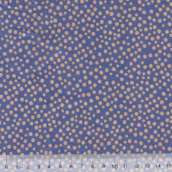 Tecido Tricoline Bolinhas Bubbles - Fundo Azul