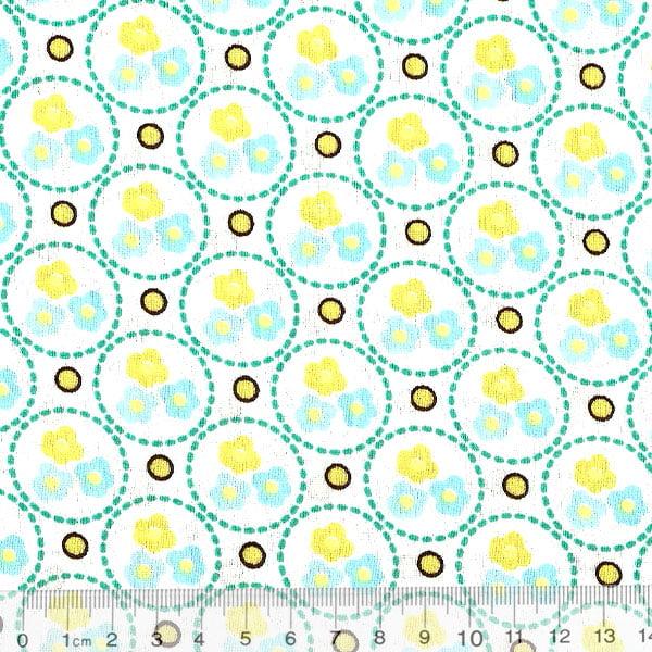 Tecido Tricoline Floral Triflor