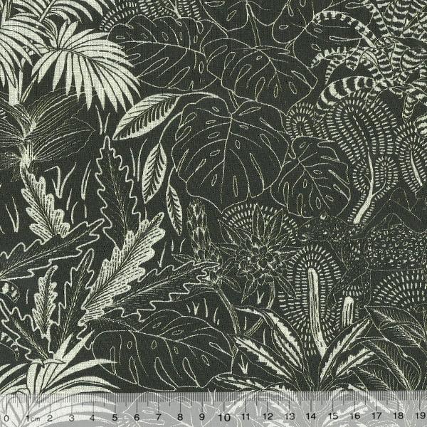 Tecido Tricoline Digital Floresta Verde