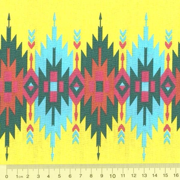 Tecido Tricoline FM Geometria Moderna Yellow Wave - Amarelo