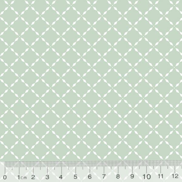 Tecido Tricoline Pan Mini Gradinhas - Verde Claro - 100% Algodão - Largura 1,50m