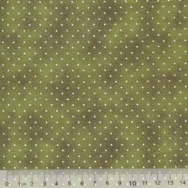 Tecido Tricoline Poá P Manchado - Verde Camuflado