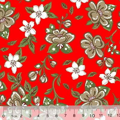 Tricoline Alg. Floral Libelly - Vermelho