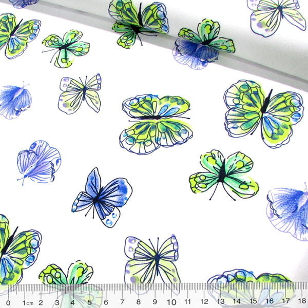 Tricoline Borboletas Butterfly - Fundo Branco