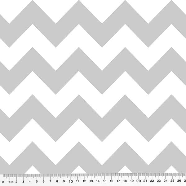 Tricoline Chevron Digital - Cinza