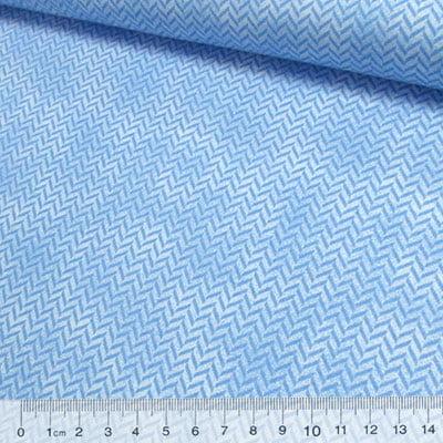 Tricoline Chevron Poeirinha - Azul Claro