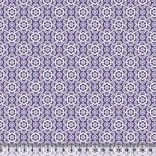 Tricoline Coleção Composê Ideal Roxo - Flores