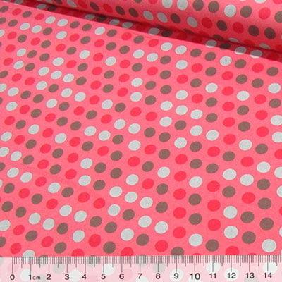Tecido Tricoline Confete Bolas - Rosê