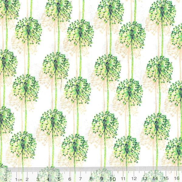 Tricoline Floral Botânica - Verde Claro