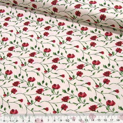 Tricoline Floral Libertine - Vermelho
