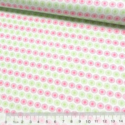 Tricoline Formas Circle - Rosa e Verde