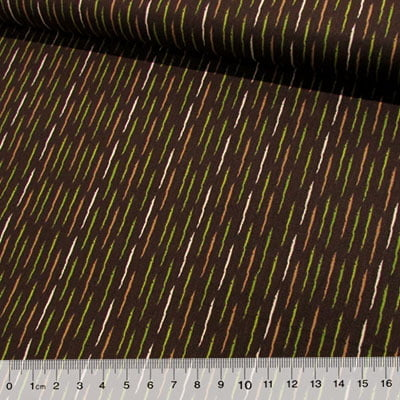 Tecido Tricoline Formas Fitas - Verde
