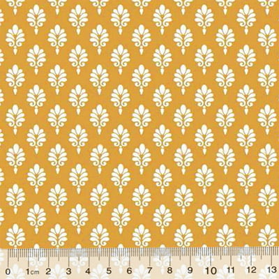 Tricoline Garden Unity - Brasão - Amarelo Mostarda (Largura: 1,50 m)