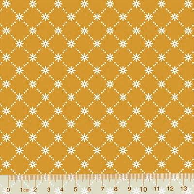 Tricoline Garden Unity - Mini Flor - Amarelo Mostarda (Largura: 1,50 m)