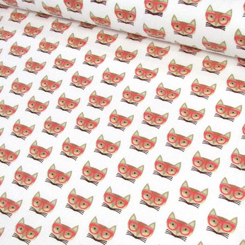 Tricoline Raposas de Óculos Laranja