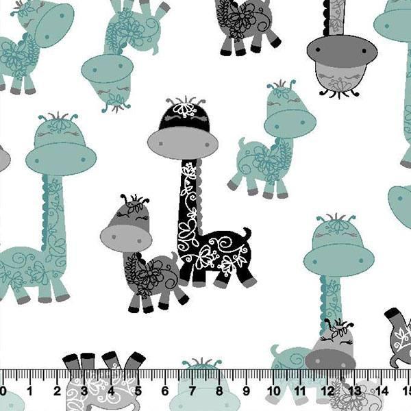 Tricoline Girafinhas Infantil - Turquesa