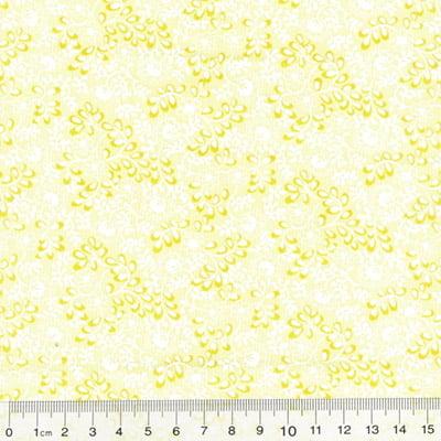 Tecido Tricoline Mista Floral Martinica - Amarelo