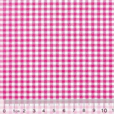 Tecido Tricoline Mista Pop - Xadrez Rosa Pink