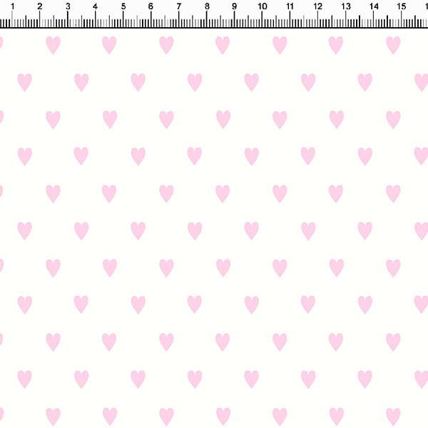 Tricoline Pequenos Corações Rosa