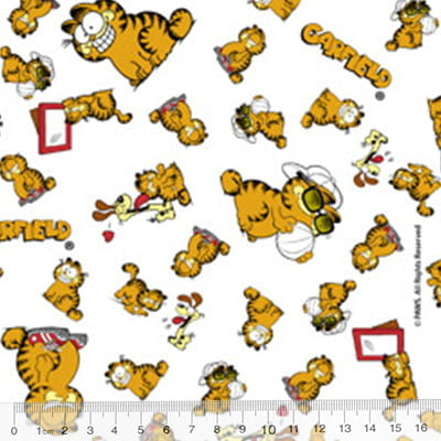 Tecido Tricoline Personagens F. Maluhy - Garfield e Oddie
