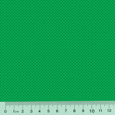 Tricoline Poá P - Fundo Verde c/ Verde