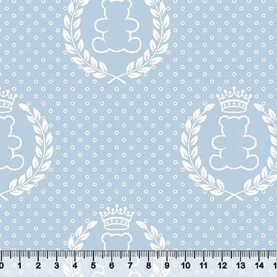 Tricoline Quarto do Bebê - Ursinho - Azul Claro