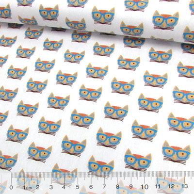 Tricoline Raposas de Óculos Azul