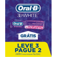 CREME DENTAL ORAL-B 3D WHITE LEVE 3 PAGUE 2