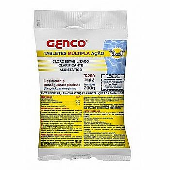 Pastilha T-200 Genclor cloro