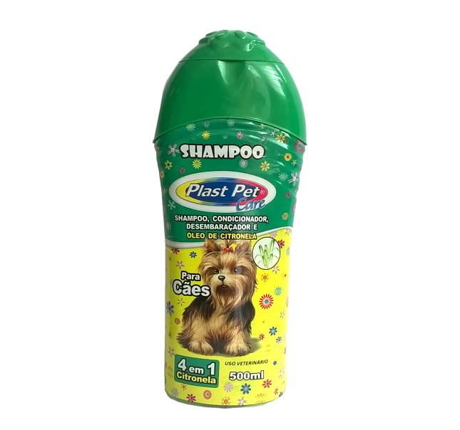 Shampoo 4 em 1 Citronela Plast Pet Care 500ml