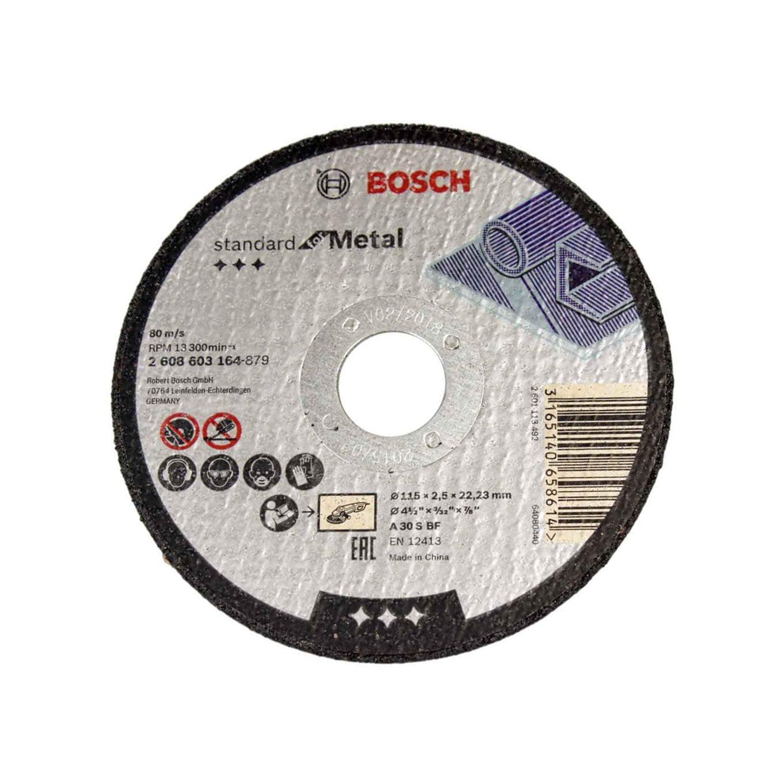 """Disco de Corte para Metal 115 mm 4.1/2"""" Gr. 30 - Bosch"""