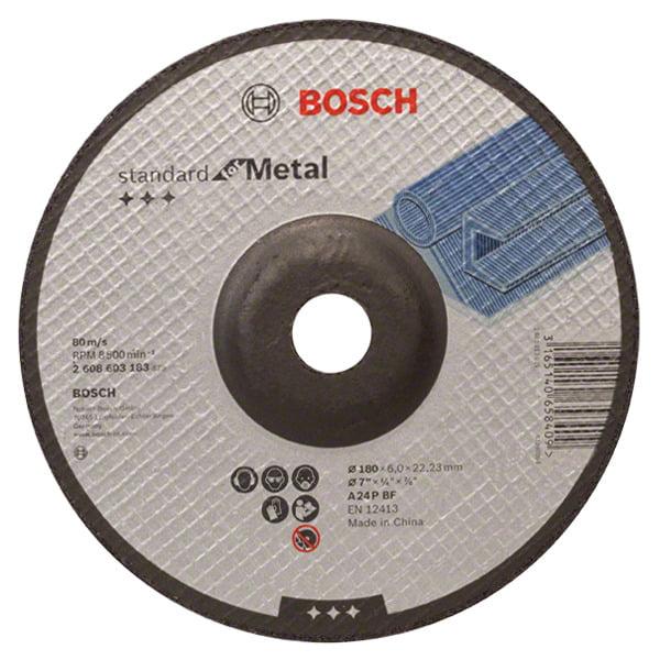 Disco de Desbaste Para Metal 180 mm 7'' Gr.24 - Bosch