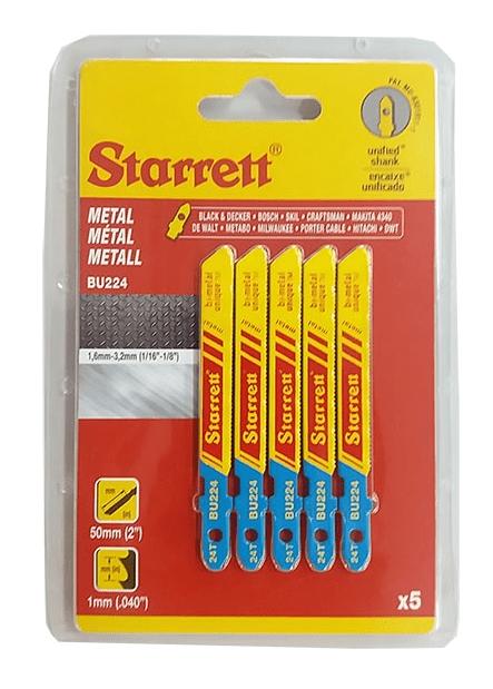 Lâminas de Serra Tico Tico Metal BU224 1,6mm - 3,2mm - Starrett