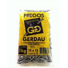 Prego Polido com Cabeça 15x15 (1kg) Gerdau