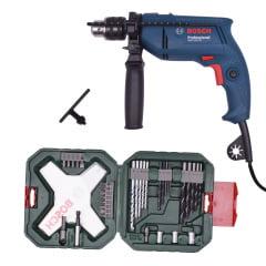 Furadeira de Impacto GSB 550 RE 127V + Kit Xline 34 pçs - Bosch