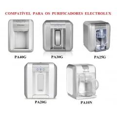 Kit filtro refil para purificador de água Electrolux PA 10N, PA 20G, PA 25G, PA 30G e PA 40G - 02 peças