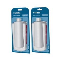 Kit filtro refil para purificador de água  latina  P355- 02 peças