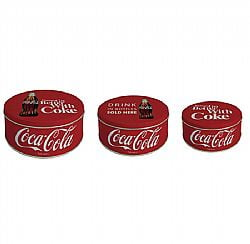 JOGO 3 LATAS COCA COLA THINGS GO BETTER REDONDAS