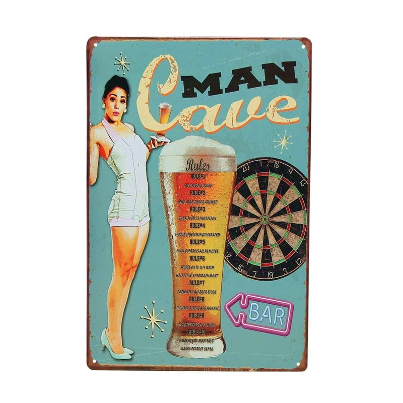 PLACA METAL MAN CAVE