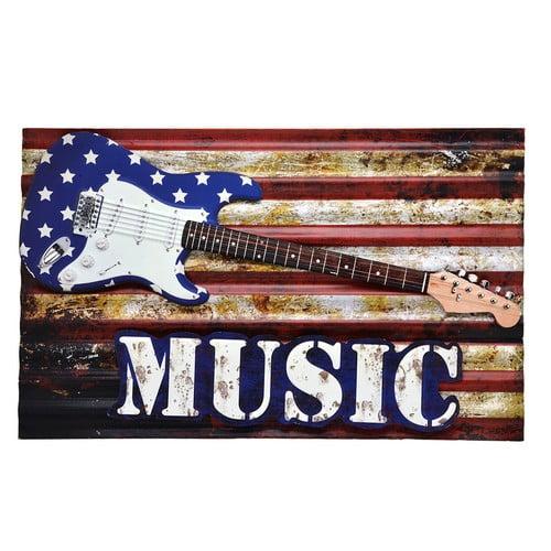 QUADRO METAL MUSIC 61x37 cm