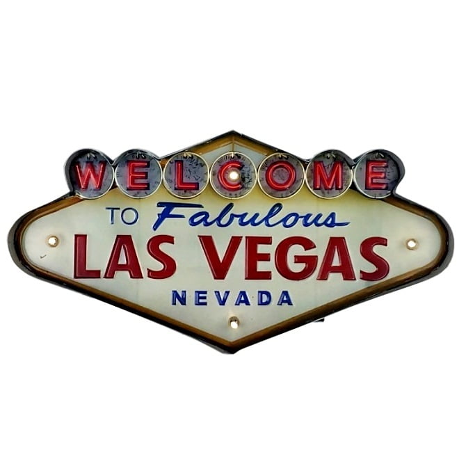 PLACA LAS VEGAS COM LED