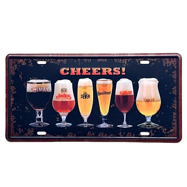 PLACA METAL CHEERS ref.270