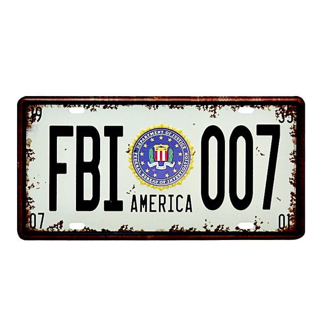 PLACA METAL FBI 007