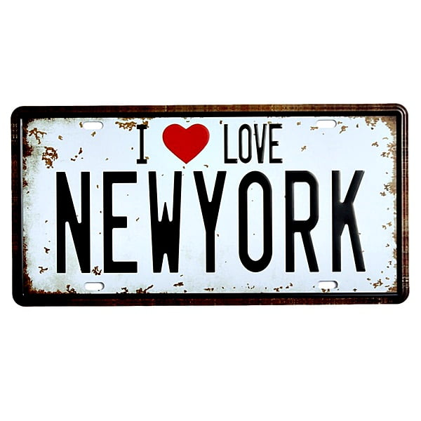 PLACA METAL I LOVE NEW YORK